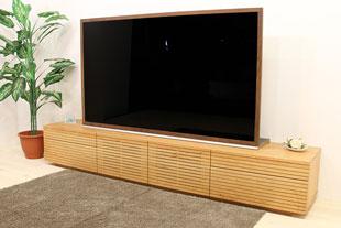 風雅テレビボードタイプ2幅2400mm ブラックチェリー