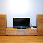 W1500 TVボード/サイドキャビネット左右(ブラックチェリー)