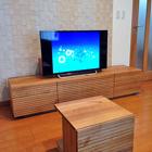 W1800 TVボード タイプ2/特注センターテーブル(ホワイトオーク)