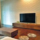 W2400 TVボード/W1000 センターテーブル(ウォールナット)