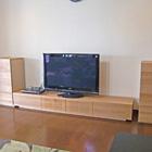 W2400 TVボード/W490 サイドキャビネット左右(ホワイトオーク)