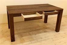 風雅ダイニングテーブル (ウォールナット シンプル)#06