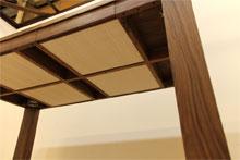 風雅ダイニングテーブル (ウォールナット シンプル)#09