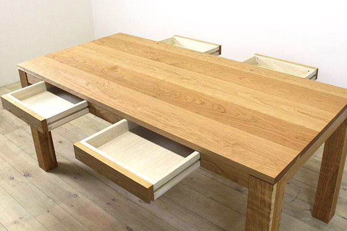 風雅ダイニングテーブル (ブラックチェリー シンプル)#08