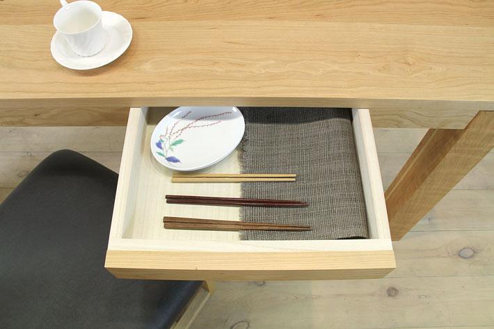 風雅ダイニングテーブル (ブラックチェリー シンプル)#09