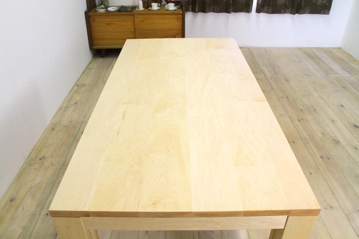 風雅ダイニングテーブル (メープル シンプル)#03
