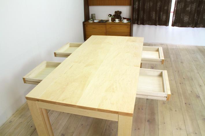 風雅ダイニングテーブル (メープル シンプル)#06
