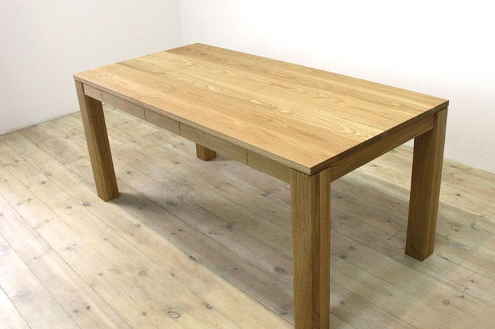 風雅ダイニングテーブル (ホワイトオーク シンプル)#05