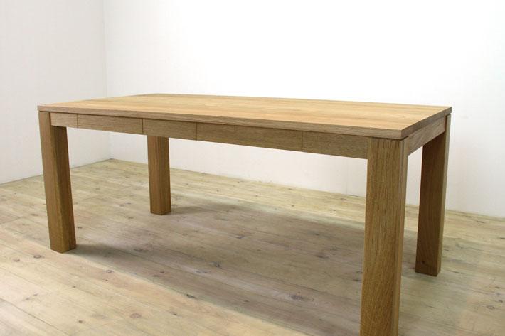 風雅ダイニングテーブル (ホワイトオーク シンプル)#06