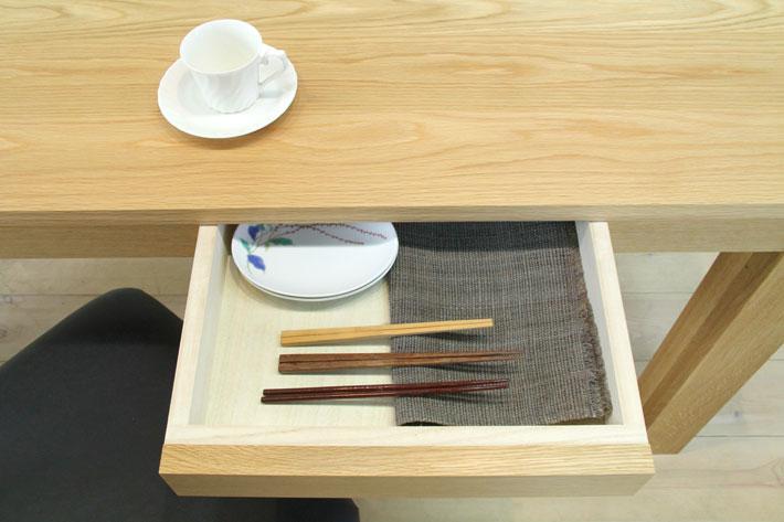 風雅ダイニングテーブル (ホワイトオーク シンプル)#09