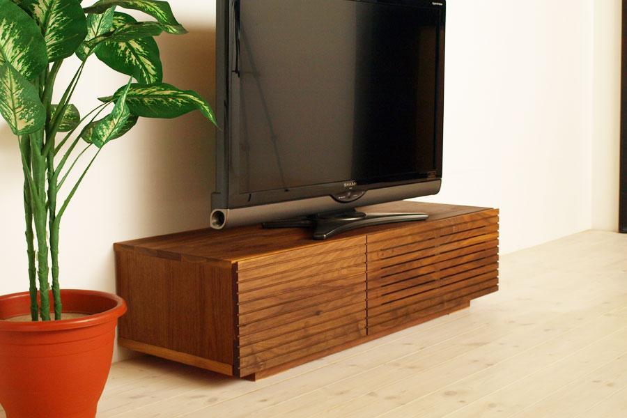 天然木・無垢を使ったテレビ台・テレビボード 風雅  ウォールナット・ウォルナット#03