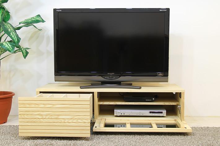 天然木・無垢を使ったテレビ台・テレビボード 風雅  ホワイトアッシュ#02