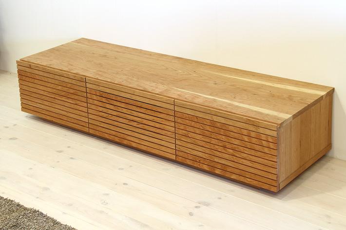 天然木・無垢を使ったテレビ台・テレビボード 風雅  ブラックチェリー#05