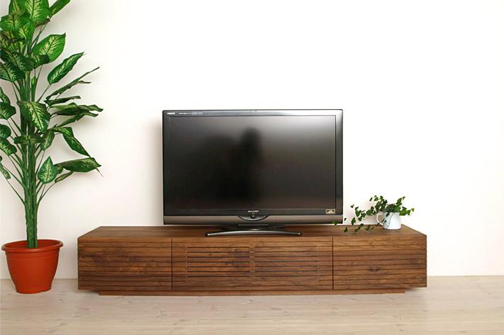 天然木・無垢を使ったテレビ台・テレビボード 風雅  ウォールナット・ウォルナット#01