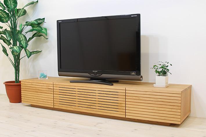 天然木・無垢を使ったテレビ台・テレビボード 風雅  ブラックチェリー#01