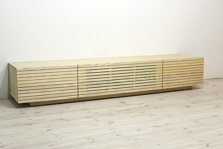 天然木・無垢を使ったテレビ台・テレビボード 風雅  ホワイトアッシュ#04