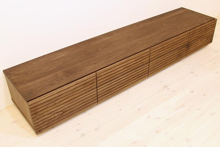 天然木・無垢を使ったテレビ台・テレビボード 風雅  ウォールナット・ウォルナット#04