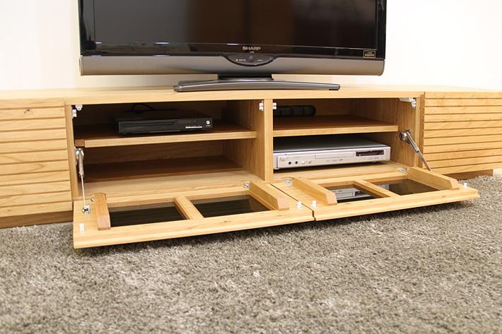 天然木・無垢を使ったテレビ台・テレビボード 風雅  ブラックチェリー#06