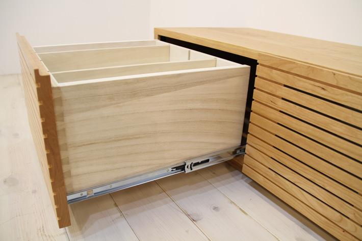 天然木・無垢を使ったテレビ台・テレビボード 風雅  ブラックチェリー#09