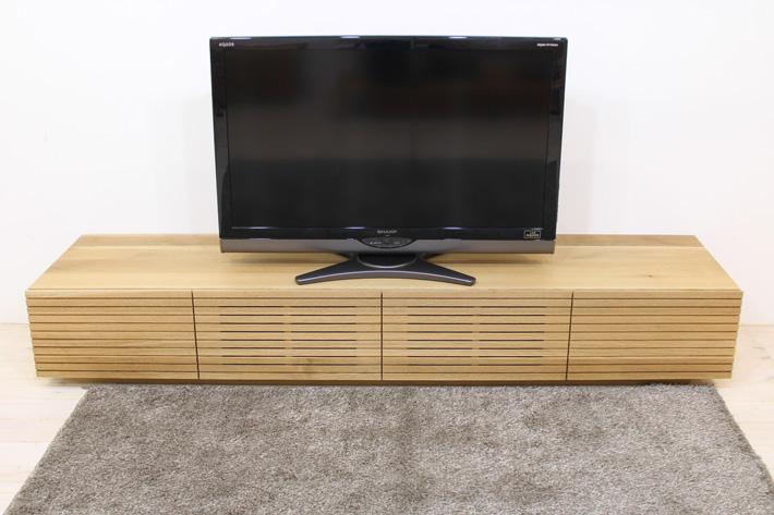 天然木・無垢を使ったテレビ台・テレビボード 風雅  ホワイトオーク#03