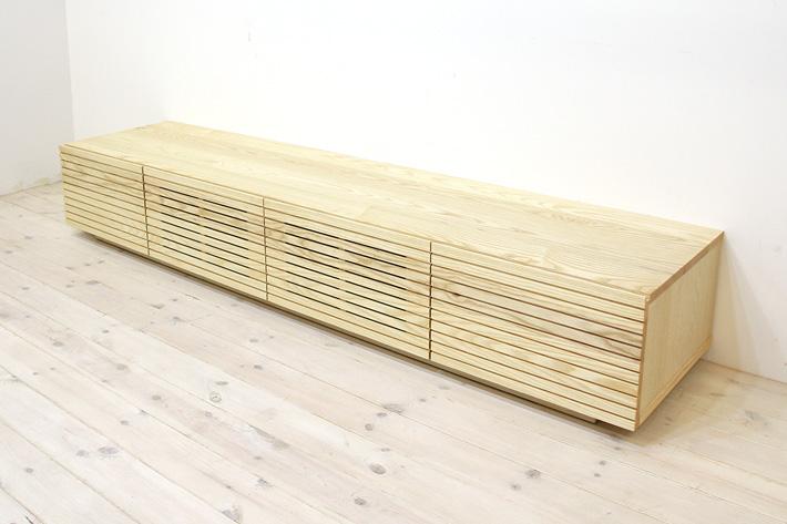 天然木・無垢を使ったテレビ台・テレビボード 風雅  ホワイトアッシュ#05