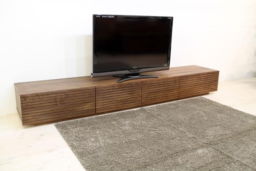 天然木・無垢を使ったテレビ台・テレビボード 風雅  ウォールナット・ウォルナット#02