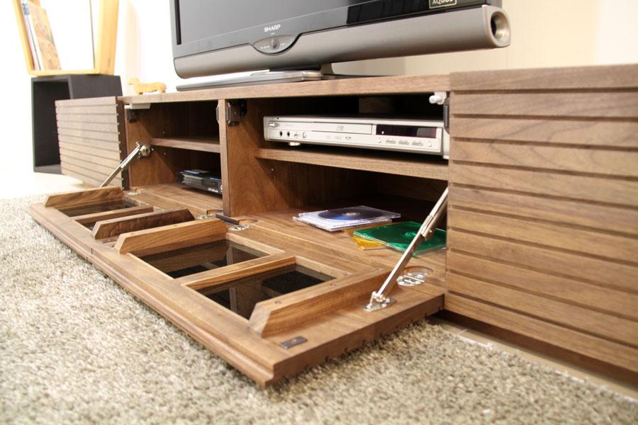 天然木・無垢を使ったテレビ台・テレビボード 風雅  ウォールナット・ウォルナット#06