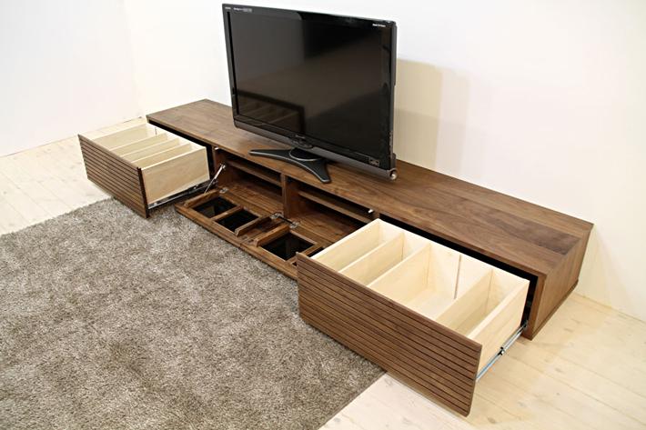 天然木・無垢を使ったテレビ台・テレビボード 風雅  ウォールナット・ウォルナット#09