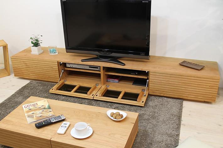 天然木・無垢を使ったテレビ台・テレビボード 風雅  ブラックチェリー#03