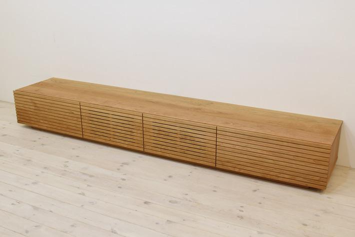 天然木・無垢を使ったテレビ台・テレビボード 風雅  ブラックチェリー#04