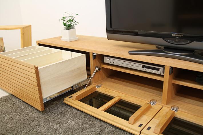 天然木・無垢を使ったテレビ台・テレビボード 風雅  ブラックチェリー#07