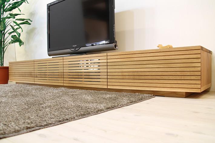 天然木・無垢を使ったテレビ台・テレビボード 風雅  ホワイトオーク#01