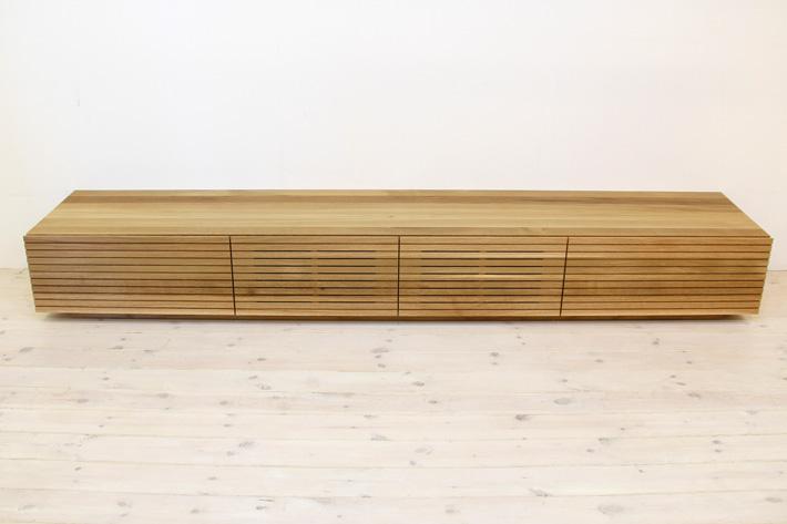 天然木・無垢を使ったテレビ台・テレビボード 風雅  ホワイトオーク#04