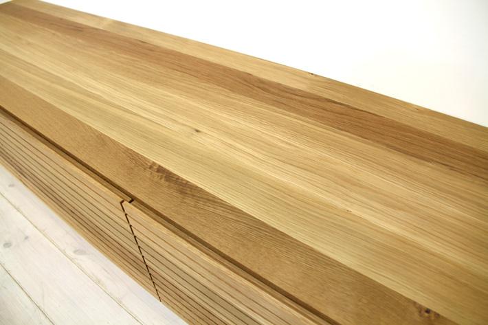 天然木・無垢を使ったテレビ台・テレビボード 風雅  ホワイトオーク#09