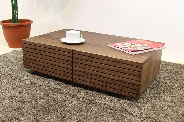 風雅 センターテーブル・ローテーブル・リビングテーブル ウォールナット・ウォルナット#01