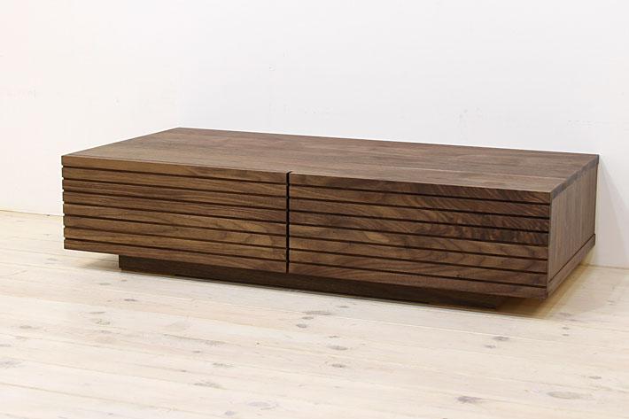 風雅 センターテーブル・ローテーブル・リビングテーブル ウォールナット・ウォルナット#05
