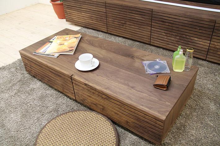 風雅 センターテーブル・ローテーブル・リビングテーブル ウォールナット・ウォルナット#02