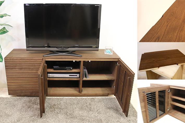 天然木・無垢の家具 風雅/FUUGA ハイタイプテレビボードとしてお使いいただけます。