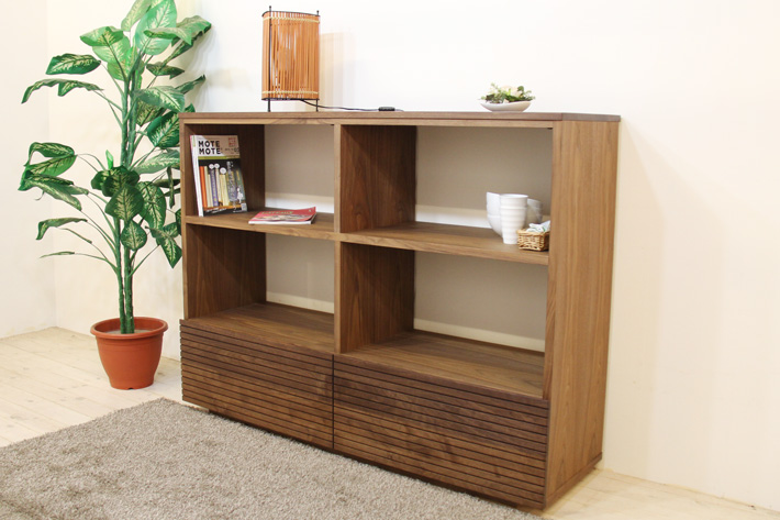 天然木・無垢の家具 風雅/FUUGA リビングシェルフイメージ