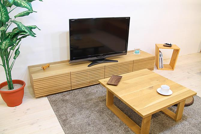 風雅テレビボード ホワイトオーク イメージ