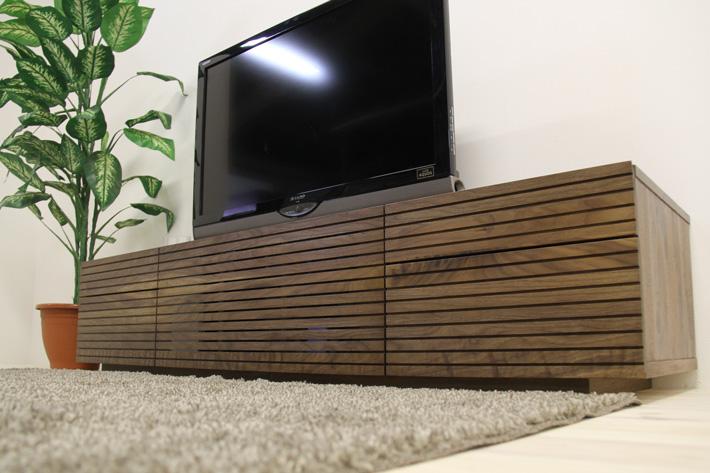 天然木・無垢を使ったテレビ台・テレビボード 風雅  -タイプ2 ウォールナット・ウォルナット#01