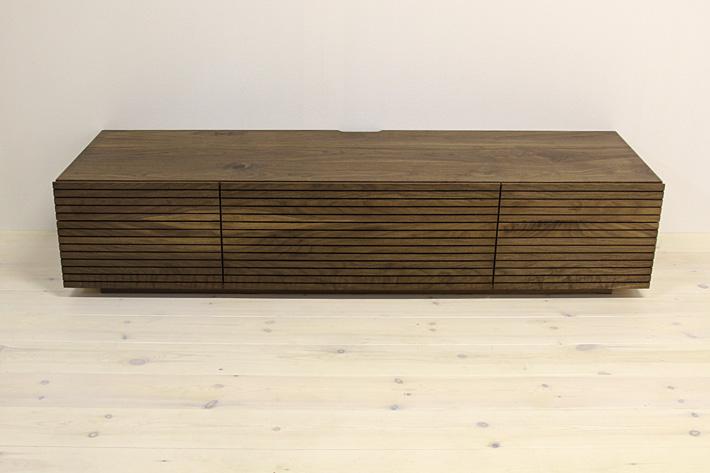 天然木・無垢を使ったテレビ台・テレビボード 風雅  -タイプ2 ウォールナット・ウォルナット#06