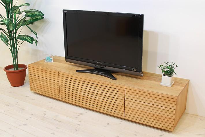 天然木・無垢を使ったテレビ台・テレビボード 風雅  -タイプ2 ブラックチェリー#01