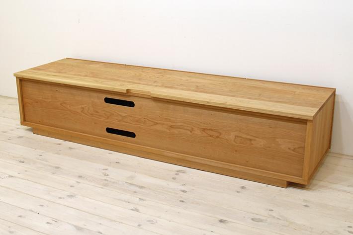 天然木・無垢を使ったテレビ台・テレビボード 風雅  -タイプ2 ブラックチェリー#09
