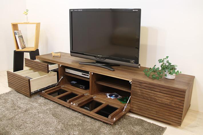 天然木・無垢を使ったテレビ台・テレビボード 風雅  -タイプ2 ウォールナット・ウォルナット#03