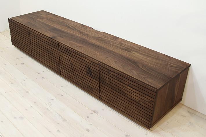 天然木・無垢を使ったテレビ台・テレビボード 風雅  -タイプ2 ウォールナット・ウォルナット#04