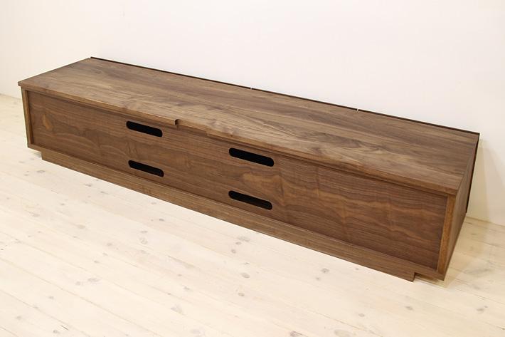 天然木・無垢を使ったテレビ台・テレビボード 風雅  -タイプ2 ウォールナット・ウォルナット#05