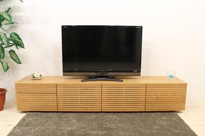 天然木・無垢を使ったテレビ台・テレビボード 風雅  -タイプ2 ブラックチェリー#02