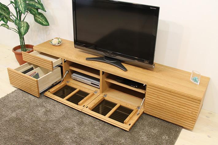 天然木・無垢を使ったテレビ台・テレビボード 風雅  -タイプ2 ブラックチェリー#03