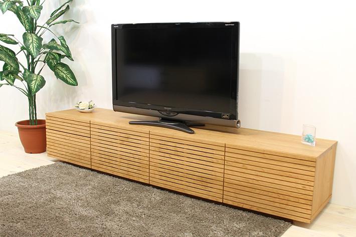 天然木・無垢を使ったテレビ台・テレビボード 風雅  -タイプ2 ブラックチェリー#04